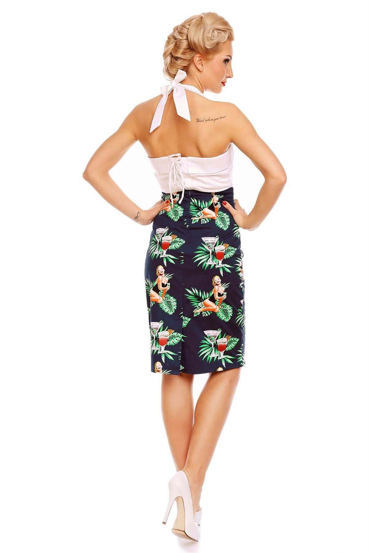 Falda Chic Pencil Skirt in Pinup Feels so Vintage